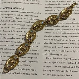 Vintage gold tone and rhinestone bracelet